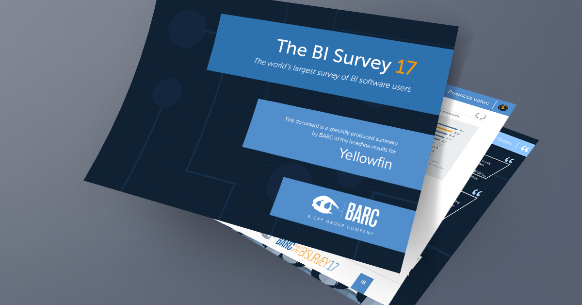 The World's Largest Business Intelligence Survey Puts Yellowfin BI First in Key Categories
