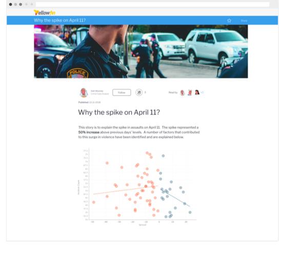 Yellowfin Story Crime Data