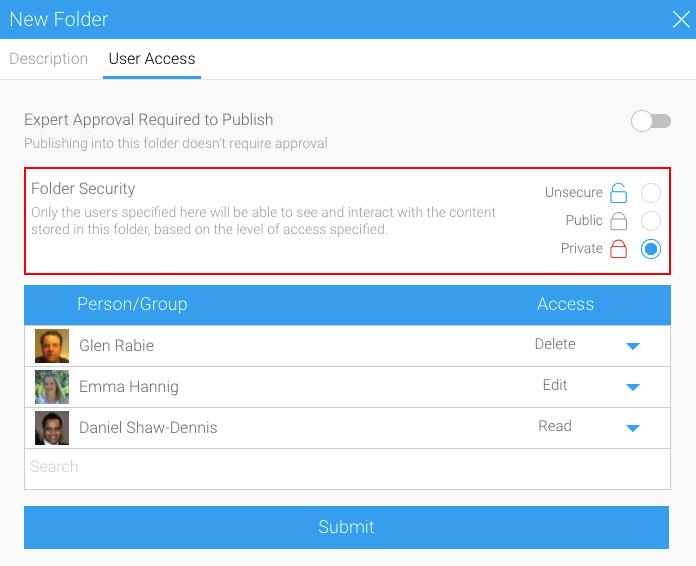 Yellowfin data governance - folder security