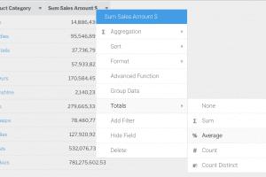 table calc totals