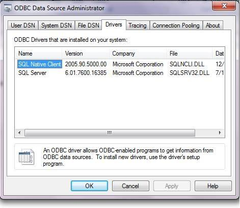 How do I setup the DSN for Microsoft access ODBC driver